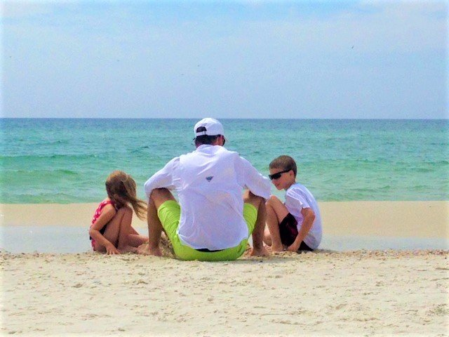 Billy Joe and kids on Cape San Blas